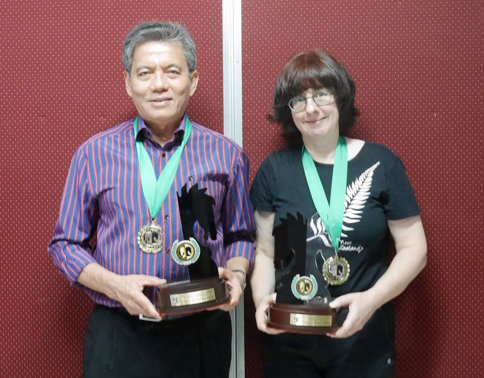 GM Eugenio Torre and CM/WFM Helen Milligan