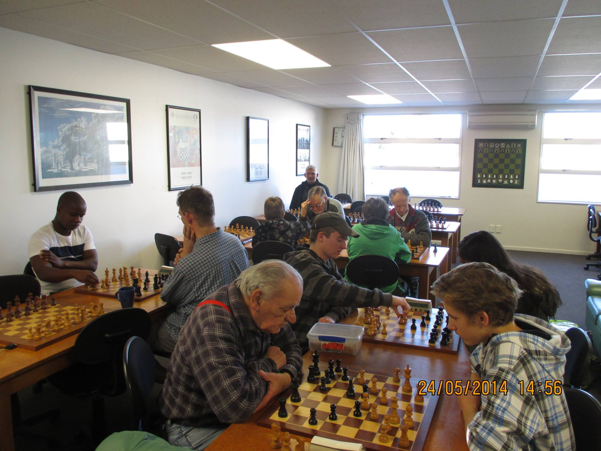 Arie Nijman at Canterbury Chess Club 2014