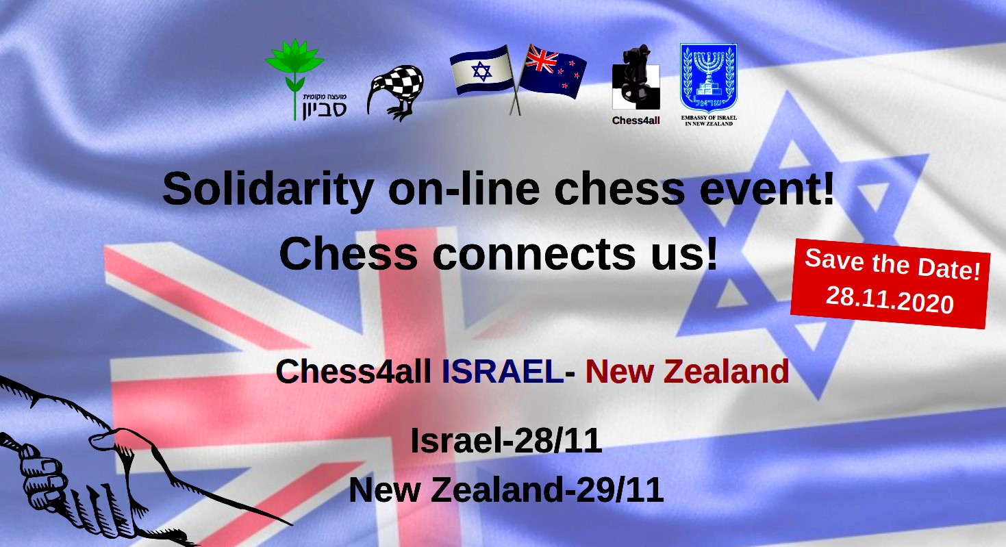 Chess4all Israel vs New Zealand
