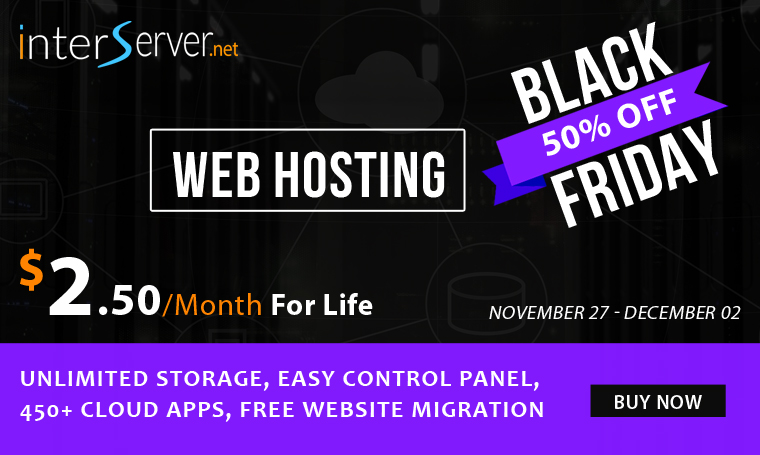 InterServer.net 2020 Black Friday sale
