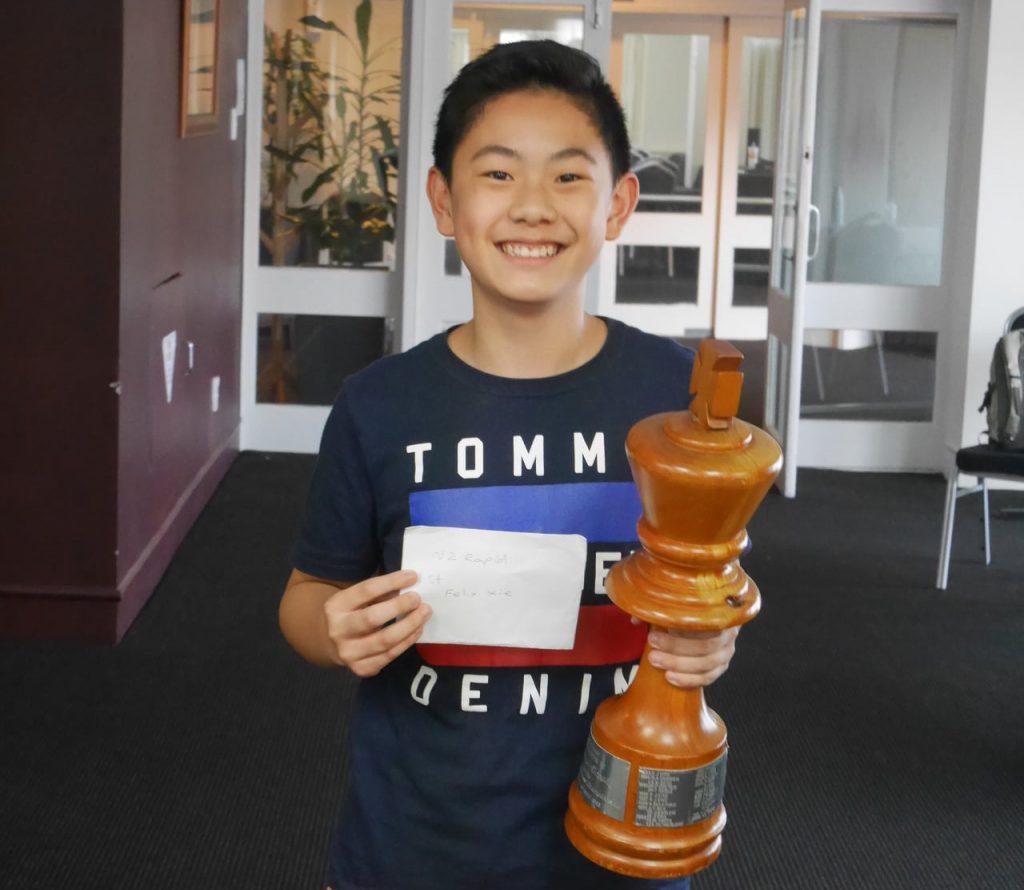 NZ Rapid Champion 2021 Felix Xie