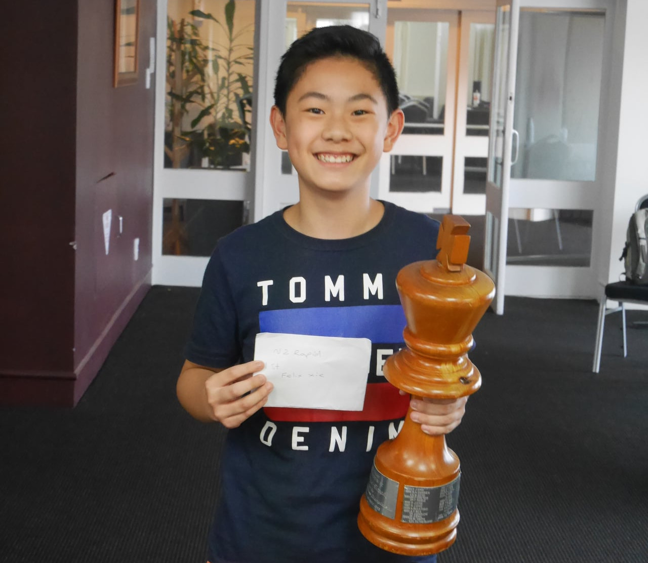 NZ Rapid Champion 2021 Felix Xie