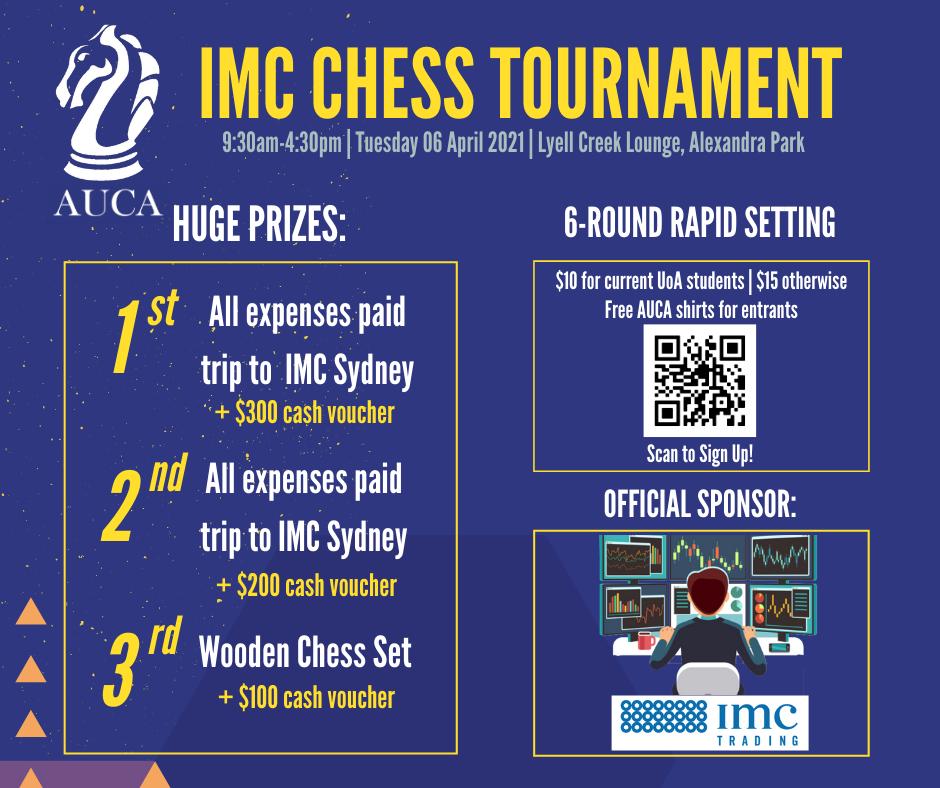 AUCA x IMC Chess Tournament poster